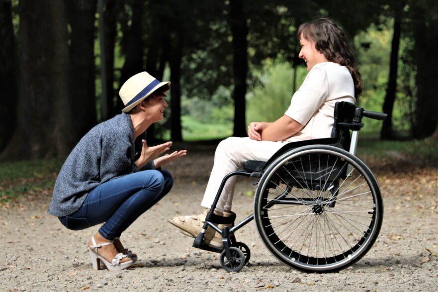 multiple sclerosis treatment two women speaking